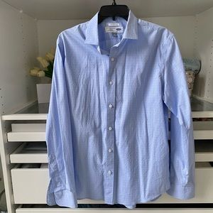 Men's Old Navy Light Blue and Pink Button Up Shirt